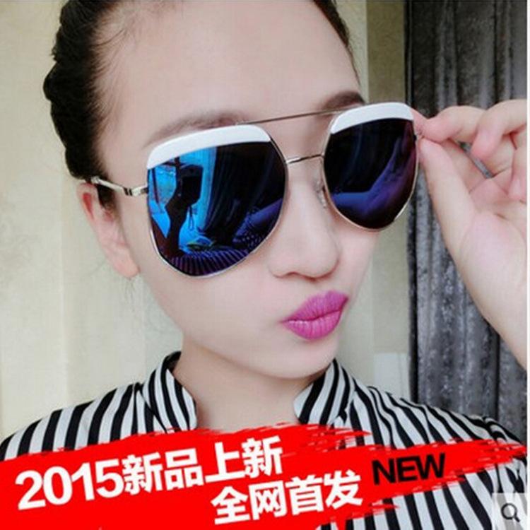 sunglasses women The new gray color film Ant sunglasses wholesale brand sunglasses irregular Ms. sunglasses Toad fashion sunglas(China (Mainland))