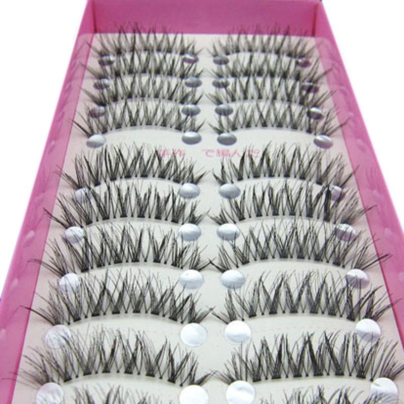 10pair Makeup Women Beauty Accessoires Professional Natural Long Strip False Eyelashes Cheap Fake Eye Lashes Eyelash Extension(China (Mainland))