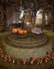 150x220cm(5x7ft) photo background halloween Enchanted Forest mushroom pumpkin studio photo ZJ