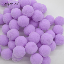 Buy 50Pcs/lot 20mm Diameter Multicolor Pompon Balls Home Decorative Flower Crafts Toy DIY Wreaths Garment Accessories Supplies 8Z for $1.34 in AliExpress store