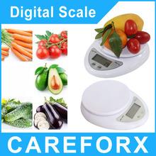 5 KG / 1 G Digital LCD de cocina electrónica Postal Scaleshigh precisión display LCD casa pequeña escala de ponderación electrónica