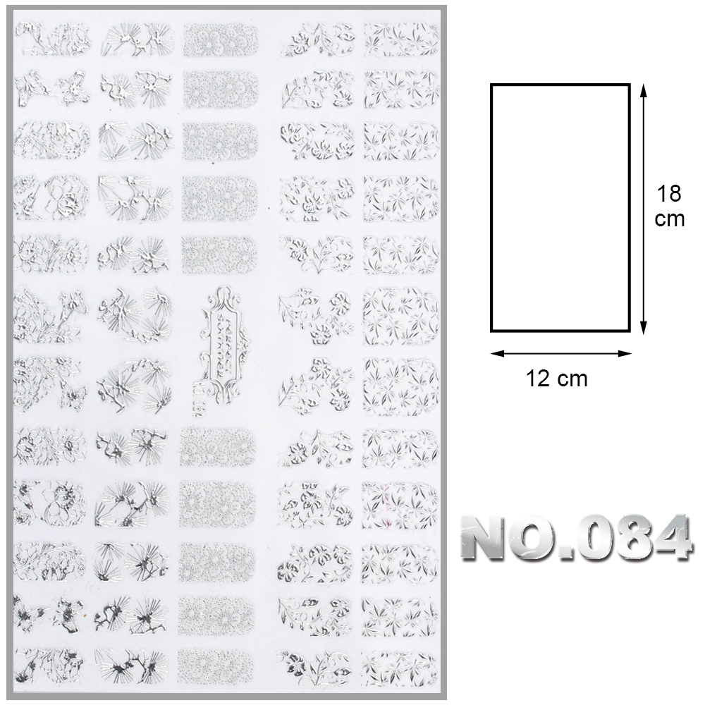 New Women Unique Beauty One Sheet Silver DIY 3D Nail Stickers Adesivos Decals Manicure for Nail