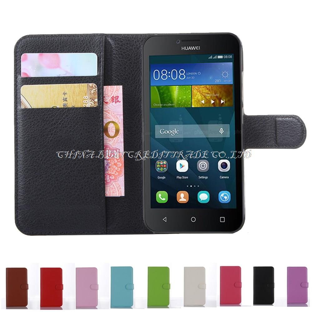 Leather Case for Huawei ascend y560 y5 4.5 inch case cover with phone ...
