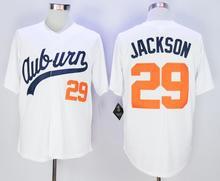 29 Bo Jackson Jerseys Auburn University Baseball Jersey White Throwback VINTAGE Baseball jersey size extra Small S M-4XL 58(China (Mainland))