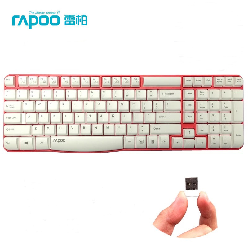 Rapoo E1050 2.4G USB Wireless Keyboard Spill-resistant Media Control Laptop Keyboard For Notebook Desktop Free Shipping(China (Mainland))