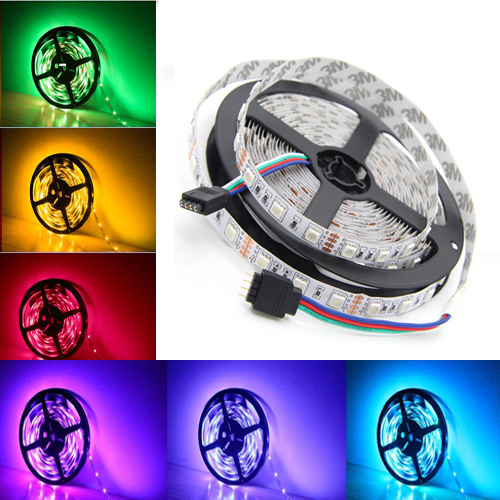 5 meters SMD 5050 12V LED Strip Light waterproof Living Room Decorative Flexible Tape Rope Lights Indoor Lighting rgb white(China (Mainland))