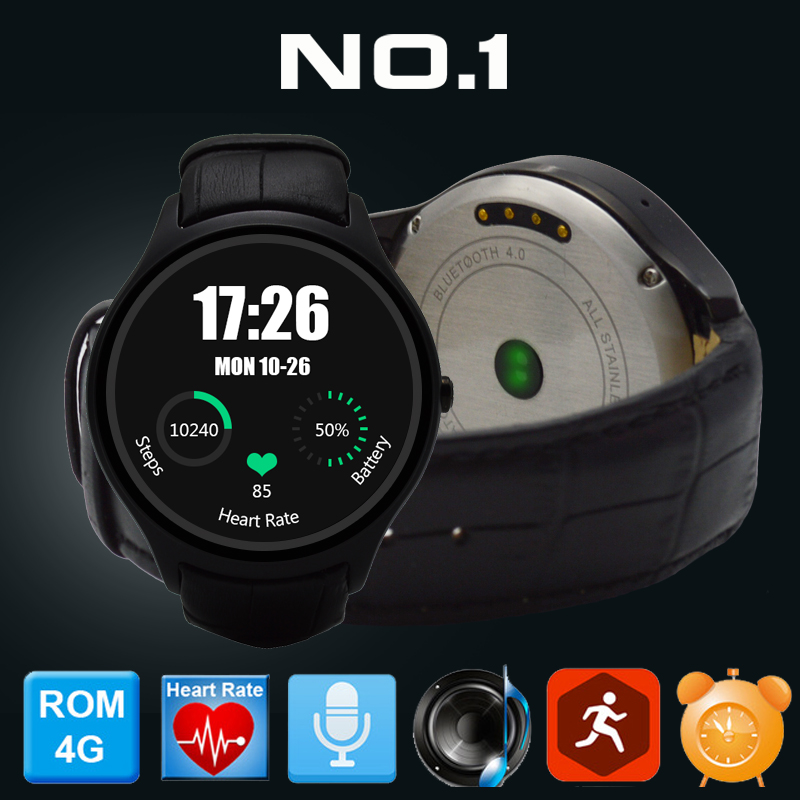 2016 Newest NO.1 D5 Smartwatch 1.3 360x360 Android 4.4 OS 512MB + 4GB MTK6572 Smart Watch with GPS Wifi Bluetooth Heart Rate<br><br>Aliexpress