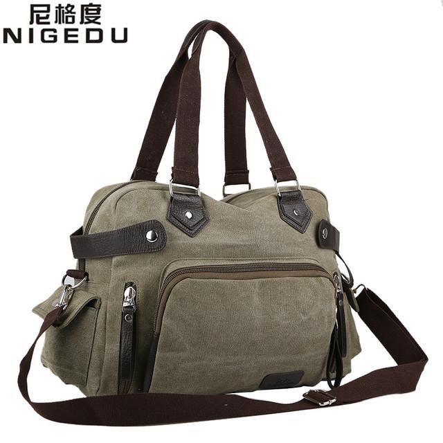 2016 НОВЫЙ Досуг холст сумка Высокого качества холст сумка мужчин дорожные сумки ...