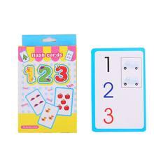 Tarjetas Flash de bolsillo letras números juegos educativos progreso tarjetas de estudio tarjetas de enseñanza tarjetas de juego de memoria tarjetas de juego(China)