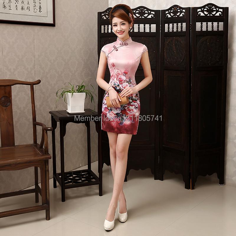 Blue white porcelain 2014 autumn women's elegant cheongsam one-piece dress slim vintage short design tang suit - Serena's Fashion store