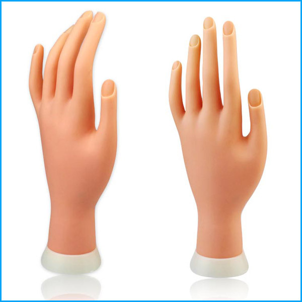 1Pcs Flexible Soft Plastic Flectional Mannequin Model Fake Hand for Nail Art Practice Display Tool(China (Mainland))