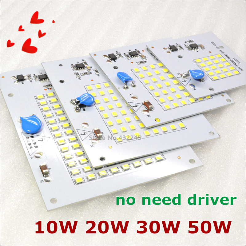 10 pieces 220V directly 10W 20W 30W 50W Integrated IC LED PCB smd 2835 Aluminum Base Plate no need driver. free shipping..(China (Mainland))