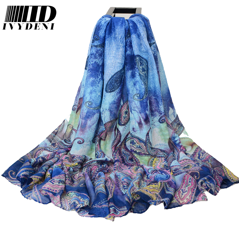 180*110cm 2016 Fashion Ladies Large Cotton Scarf Female Summer Beach Cover Ups Cashew Printed Twill Long Voile Scarf Air Pareo(China (Mainland))