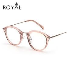 High Quality Fashion Glasses Women Eyeglasses frame Vintage Round Clear Lens Frame Metal Legs OS012(China (Mainland))