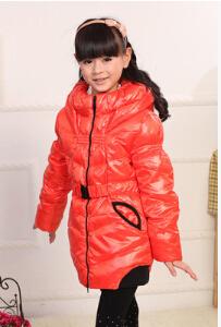 Wholesale new 2013 children outerwear girl winter down jackets medium-long down coat goose feather childrens winter jacket 90<br><br>Aliexpress