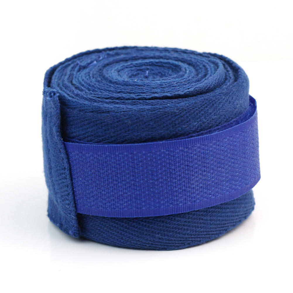 Wrist Wraps One Pair Blue Elastic Sports Strap Boxing Hand Wraps Bandages Cotton High Quality New(China (Mainland))