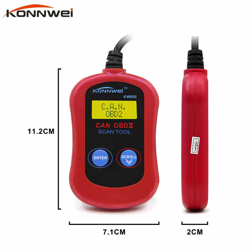 Good Price New Car Diagnostic Tool KONNWEI KW805 MS300 Code Scanner Fault Reader CAN OBD2 OBD II EOBD ENGINE MANAGEMENT(China (Mainland))