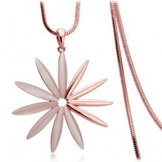 Fashion Vintage Jewelry Opal Necklace Bijoux SunFlower Pendant Long Chain Necklace For Women Gift SWN009(China (Mainland))