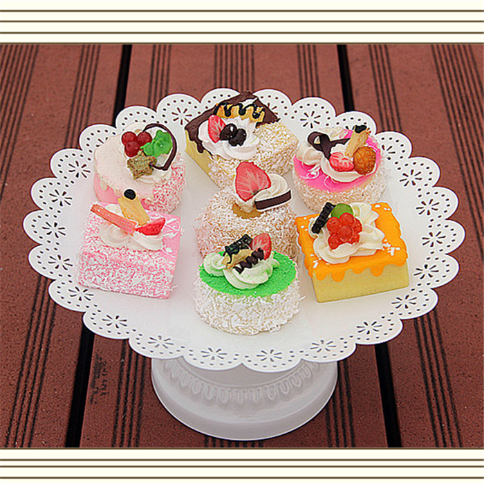 fashion white lace cake pan iron dessert plate cup stand fruit tools party supplies - Linda's lovely items store