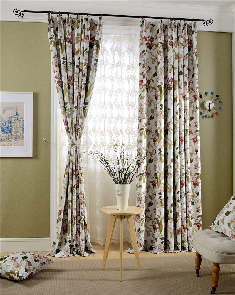 2016 new country style curtains 95% blackout curtain made in china best selling(China (Mainland))
