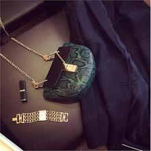 Cheap chain Crossbody women Bag pu Leather snake PU Clutch Bag Fashion 2016 new hot crocodile female shoulder Messenger bag
