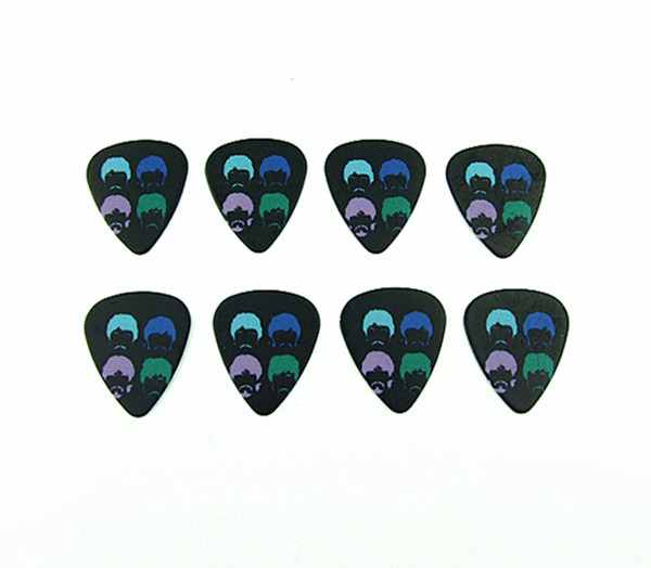 Free shipping 50PCS 0.71mm Fashion nice high quality design Band guitar picks(China (Mainland))