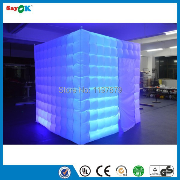 portable foldable lighting used inflatable spray paint photo booth kiosk shell enclourse with led for sale(China (Mainland))