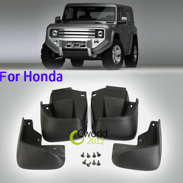 1 Set ABS Car Mudguards Front Rear Left Right Splash Guard Mud Flaps For Honda Accord 1998~2002 Auto Wheel Fender Protector(China (Mainland))