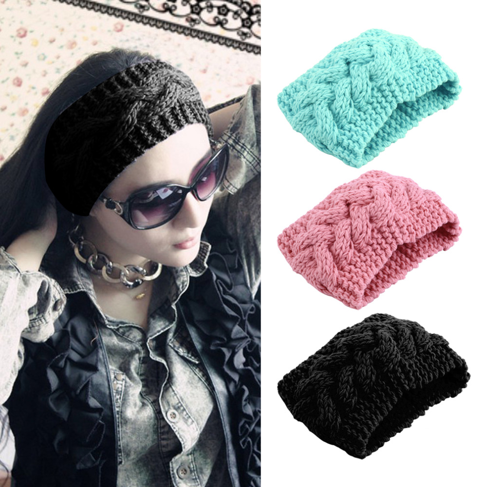 Fashion Women Head Wrap Ear Warmer Hair Accessories Hair Band Girl Knitted Turban Winter Warm Twist Crochet Girl Headwrap Cheap(China (Mainland))