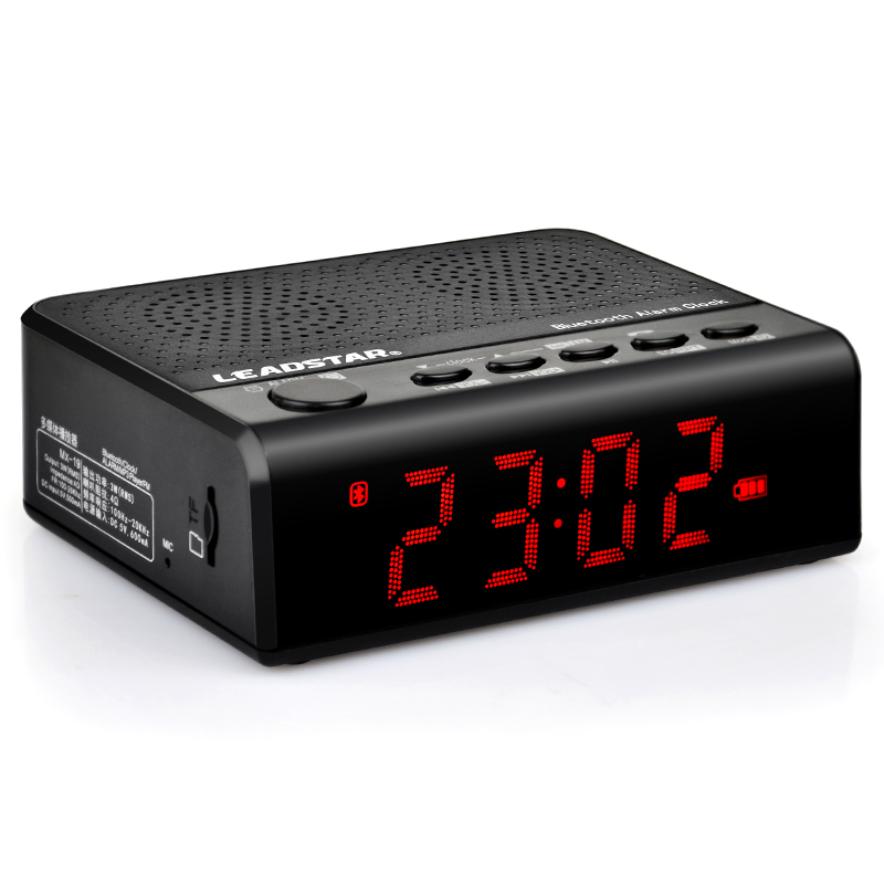 MX-19 Mini Portable Wireless Bluetooth Speaker mp3 FM 3.5 inch LED Screen with amplifier Clock Alarm built-in 2000mAh Battery(China (Mainland))