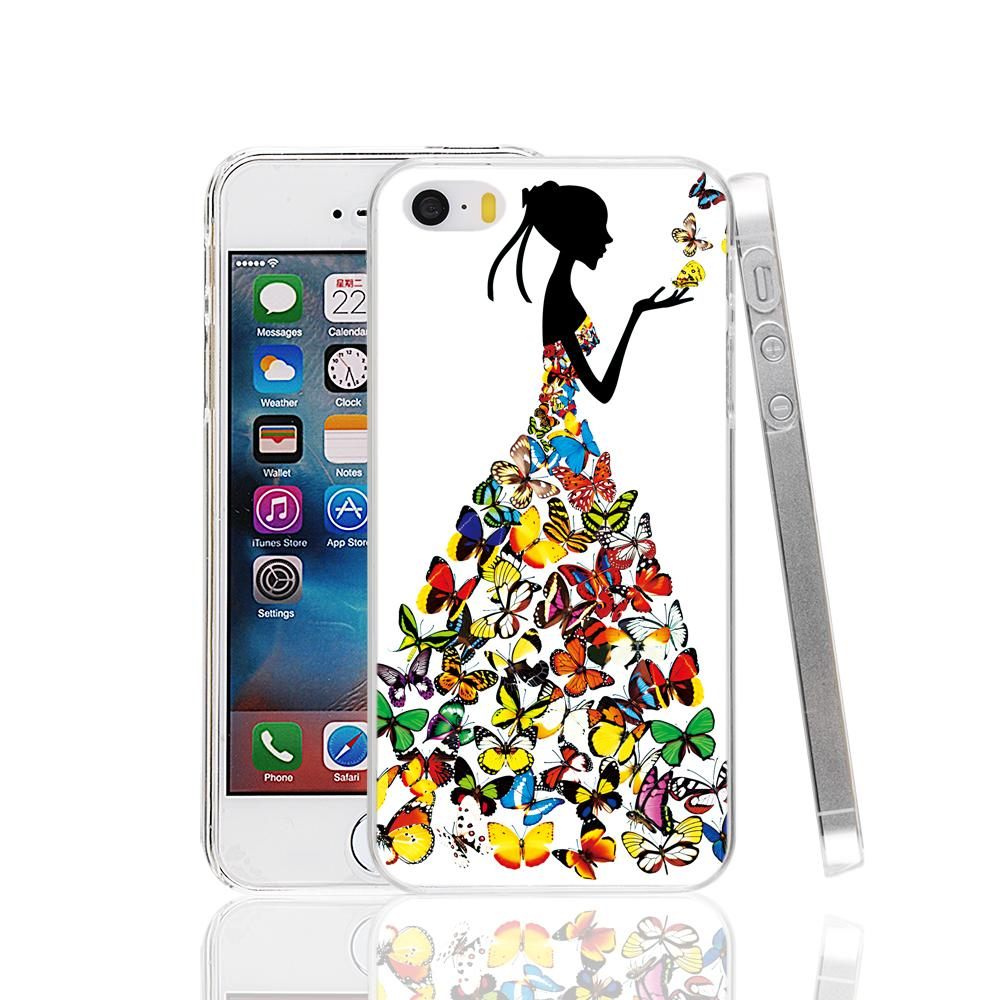 cell phone Cover Case for Apple iPhone 4 4S 5 5S 5C SE 6 6S 7 Plus fashion lady girl women printed stylish
