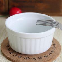 set of 4 White ceramic ramekin baking bowl pudding bowl cup baking cup oven souffl(China (Mainland))