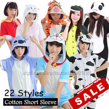 Shineye Doraemon тоторо панда взрослый мужской животных Onesies летний стиль с коротким ...