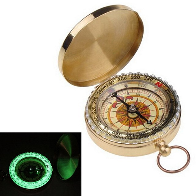 Portable Brass Golden Compass