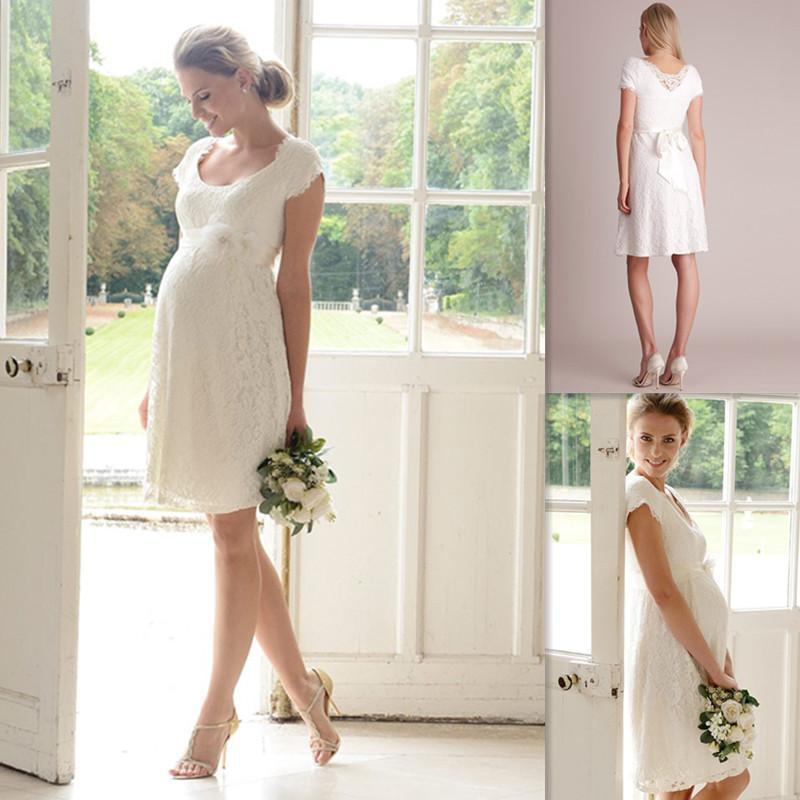 Magnificent Wedding Dresses For Pregnant Brides Crest - Wedding ...