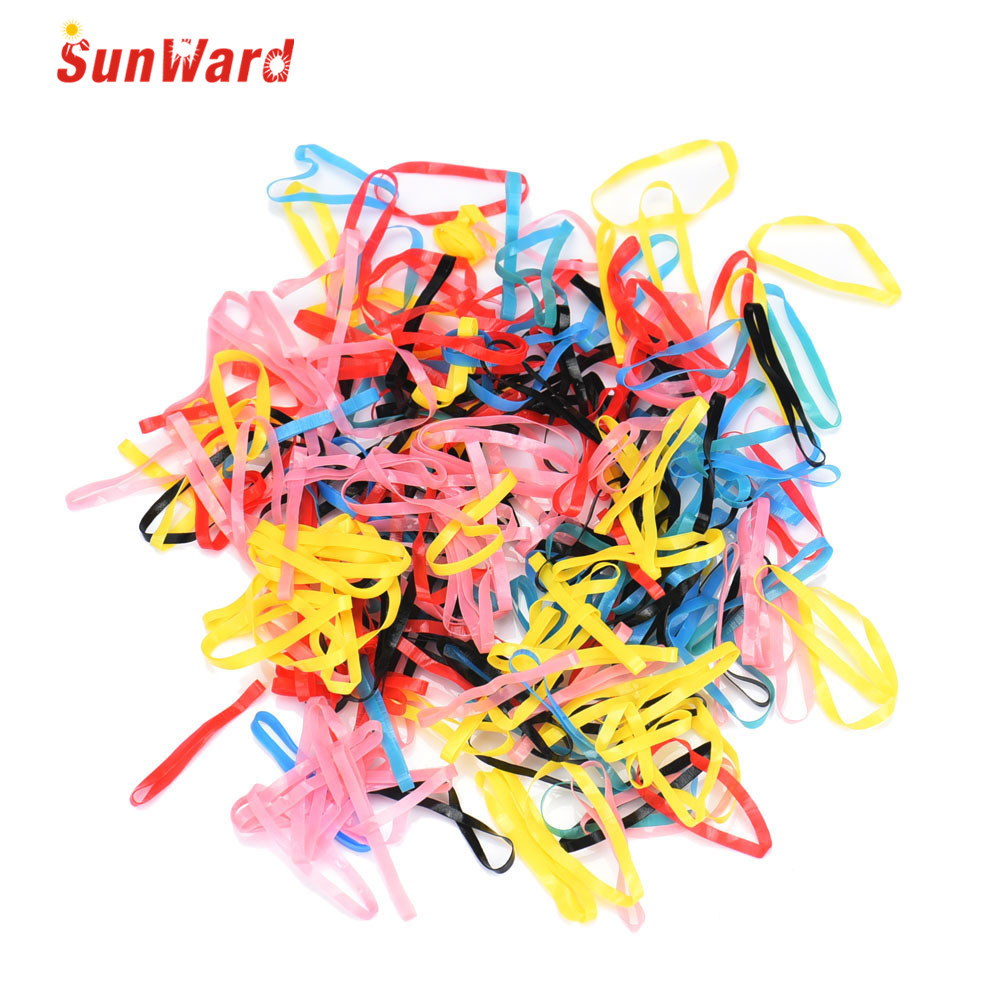 Modern Womail 100Pcs/lot Acetate Rubber Hairband Rope kid Ponytail Holder Elastic Hair Tie Braids for girl clothes H12(China (Mainland))