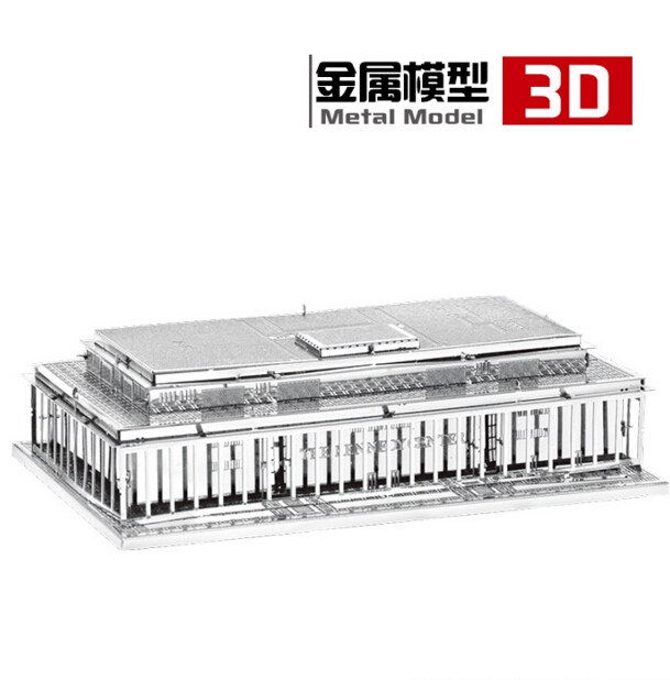 3d puzzle precision laser cutting metal John F. Kennedy Arts Center Malmo Building Sydney Harbour Bridge model puzzle kids toys(China (Mainland))