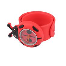 New Cartoon Watch Digital Slap Watch Cute Coccinella Septempunctata Slap  Kids Watches Red   HB88