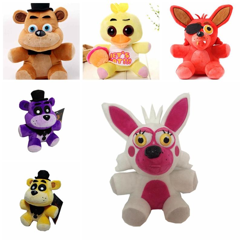 1pcs FNAF five nights at freddy Foxy and teddy bear toy plush dolls stuffed animals plush fox toys(China (Mainland))