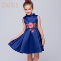 Girl Dress Brand Summer Style Dresses Casual Flowers Children Embroidery Dress Kids Clothes for Party Birthday