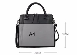 Succint Chic Women Black Whtie Handbag Side Zippers Embossing Fashion Shoulder Bag Utilitarian Designer PU Crossbody Bag
