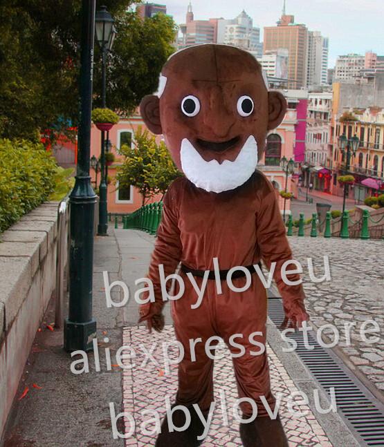 Brown devils Mascot Costume custom fancy old man costume anime cosplay kits mascotte theme fancy dress carnival costume(China (Mainland))