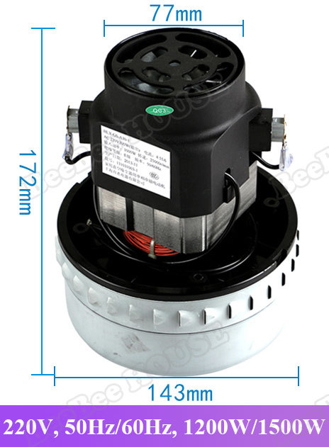 BeeBee HOUSE 2015 New 1200W / 1500W Universal Vacuum Cleaner Motor industrial accessories Wet and dry motor X-YB1200 BF571A(China (Mainland))