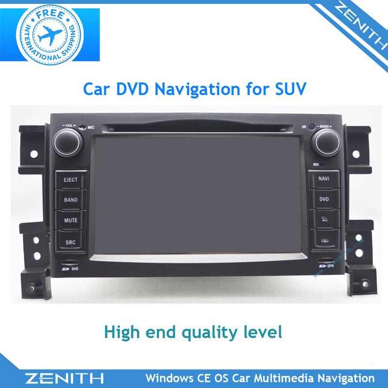 Free shipping Special Suzuki Grand Vitara Stereo Radio Car DVD Player with GPS Navigation Bluetooth Radio iPod1080P Video Play(Hong Kong)