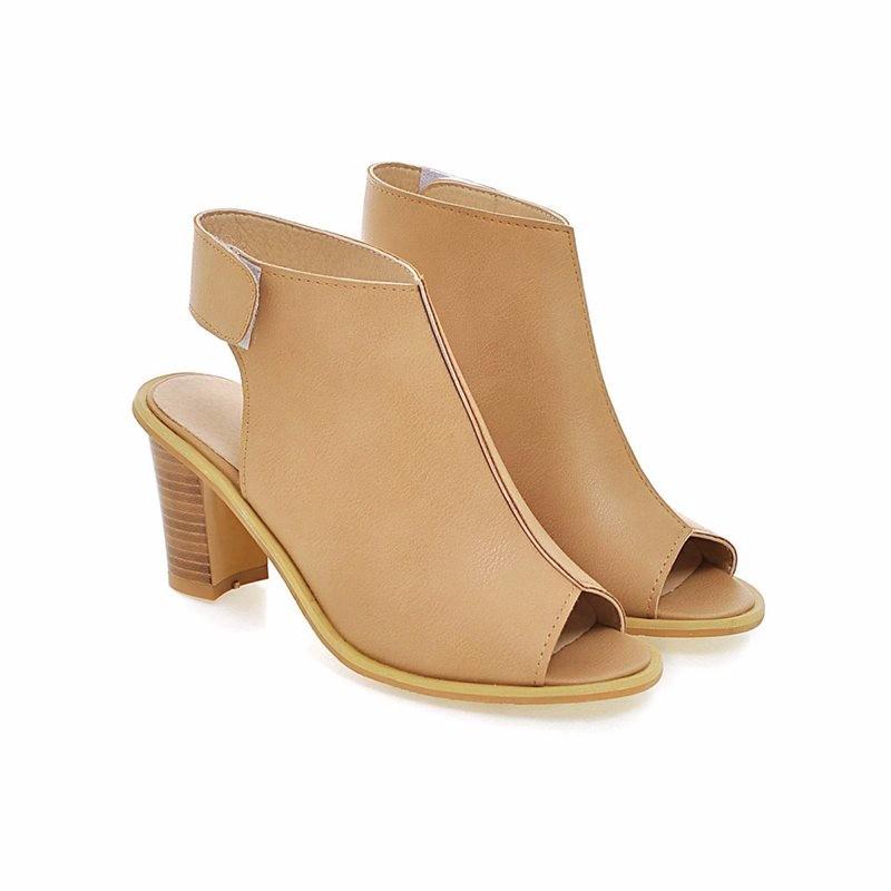 ซื้อ จัดส่งฟรี2016ผู้หญิงR Etroสไตล์ปั๊มสีดำรองเท้าส้นรองเท้าส้นสูงรองเท้าแฟชั่นของผู้หญิงสวมใส่สำนักงานG Ladiatorปั๊มPS2161