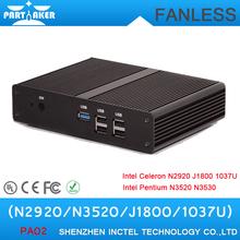 Mini Computer Fanless PC Desktop Intel Pentium Quad Core N3510 N3520 HTPC Intel Celeron N2920 J1800 1037U with VGA HDMI(China (Mainland))