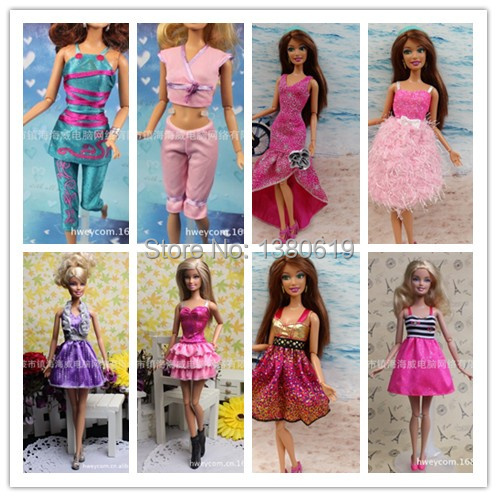 2014 new handbook for the barbie doll clothes clothes baby the best Christmas gift to mix design is 10 PCS y51(China (Mainland))