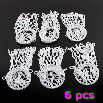 M89 Free Shipping 6pcs Billiards Pool Snooker Table Ringed Nylon Nets Pockets Bags Cue Kit White(China (Mainland))
