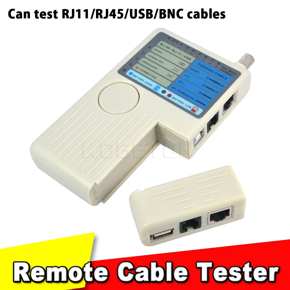 New Remote RJ11 RJ45 USB BNC LAN Network Cable Tester for UTP STP LAN Cables Tracker Tracer Detector Top Quality Tool(China (Mainland))