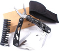 New design WORKPRO 15 in 1 Premium Pocket Multitool With Sheath Knife Pliers Saw Screwdriver Scissors
